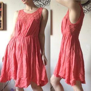 Free People Dresses - Free People Salmon Sheen Lace Dress